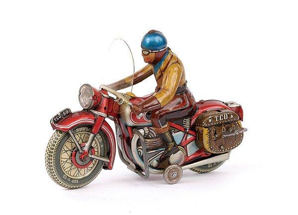 3010: Tipp & Co No.590 Tinplate Motorcyclist