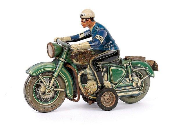 3012: Tipp & Co Ref. 598 Tinplate Police Motorcyclist