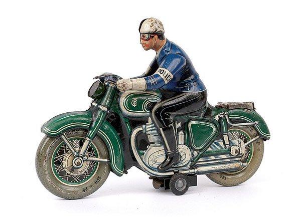 3013: Tipp & Co Ref.598 Tinplate Police Motorcyclist