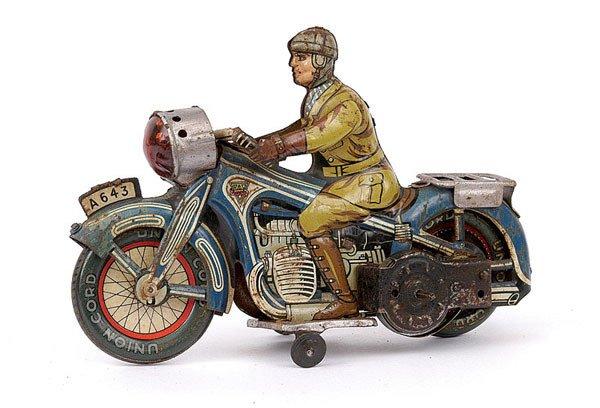 3016: Arnold Ref.643 Tinplate Touring Motorcyclist