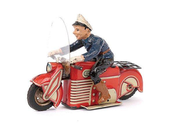 3024: Gama Ref.126 Tinplate Police Motorbike