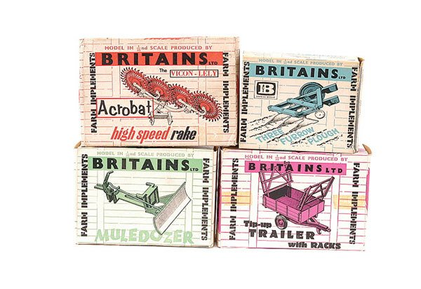 4017: Britains - A Group of 4 x Farm Implements