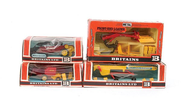 4019: Britains - A Group of 4 x Farm Implements