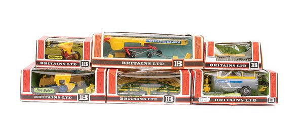 4022: Britains - A Group of 6 Farm Implements
