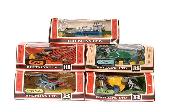 4023: Britains - A Group of 5 x Farm Implements