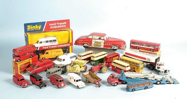 1: Dinky and Corgi Toys - A Mixed Group of Unboxed