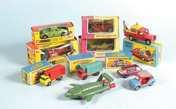 13: A Small Group of Corgi, Matchbox, Dinky