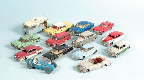 19: A Group of Unboxed Dinky Toy Cars