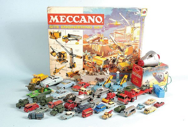 21: A Large Group of Meccano, Matchbox, Spot-on