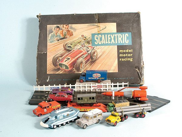 22: A Group of Scalextric, Dinky Toys, Spot-on