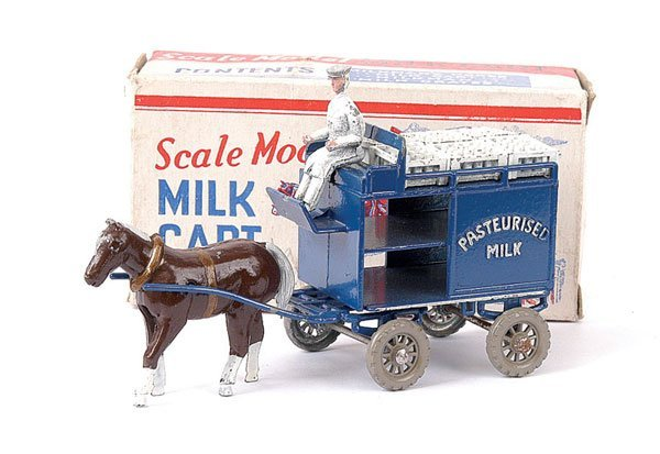 697: Lesney Large Scale Horsedrawn Milk Float
