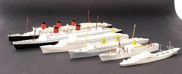1: Minic Ships - A Group of 6 x Unboxed