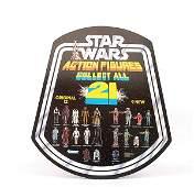 585 Star Wars Action Figures Original Display Sign