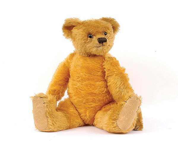 9: Farnell golden mohair teddy bear