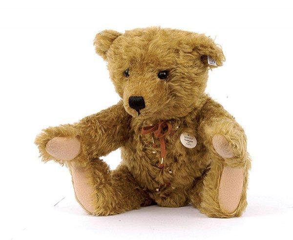 12: Steiff teddy bear with hot water bottle 1907