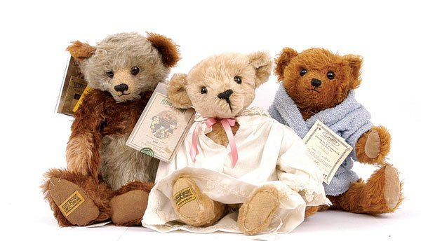 17: Three Merrythought modern teddy bears