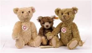61: Three Steiff reproduction teddy bears