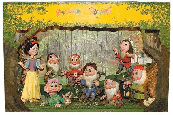 327: Pelham Puppet Snow White & Seven Dwarfs Unit