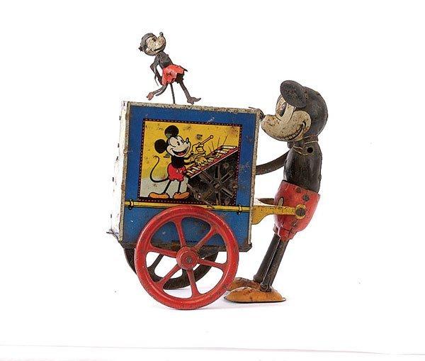 675: Rare Distler Mickey Mouse Organ Grinder c.1931