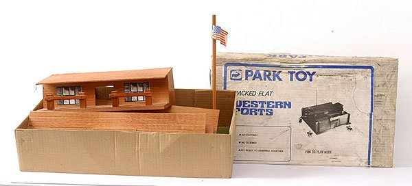 1003: Park Toy - Wooden Fort Sioux