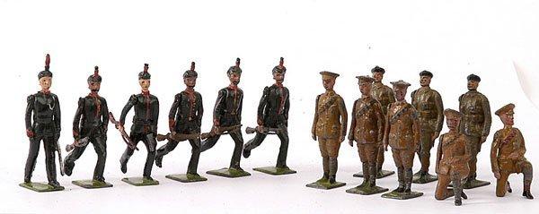1012: Britains-various Sets-KRRC, RTR & RA Gunners