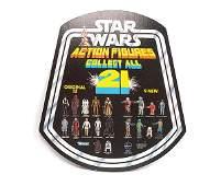 2416 Star Wars Action Figures Original Display Sign