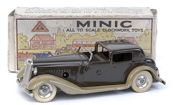 515: Minic - 7M Town Coupe - dark brown + beige wings