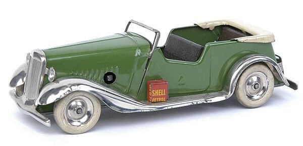 516: Minic - 8M Tourer - green with beige folded hood