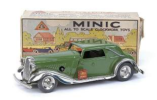 Minic - 19M - Vauxhall Cabriolet - green