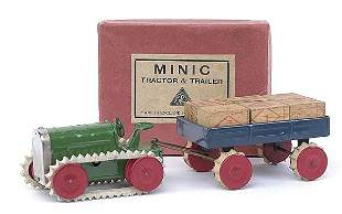 Minic - 26M - Tractor and Trailer with cases