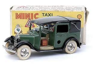 Minic - 39M - Taxi - dark green+black roof&wings