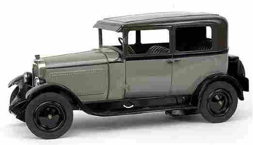 573: Jouets Citroen - 60-2 C4 1928 Saloon - grey+dark