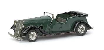 849: Minic - 17M Vauxhall Tourer - Post-war dark green