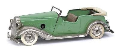 871: Minic - 17M Vauxhall Tourer - Pre-war apple green