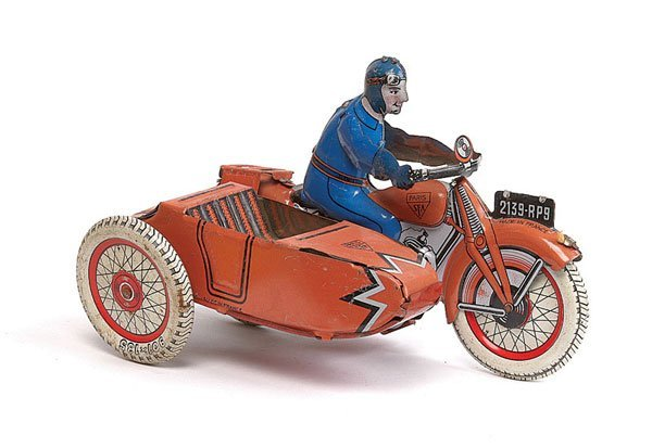 3016: SFA Tinplate Motorcycle and Sidecar