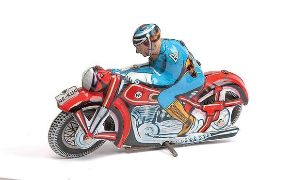 3017: Tinplate Motorcycle Despatch Rider