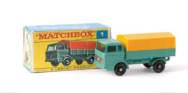 9: Matchbox No.1e Mercedes LP Covered Truck