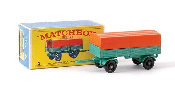 18: Matchbox No.2d Mercedes LP Covered Trailer