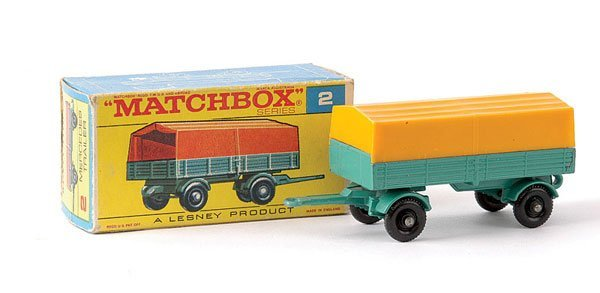 19: Matchbox No.2d Mercedes LP Covered Trailer