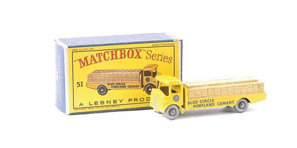 579: Matchbox No.51a Albion Chieftain Cement Truck