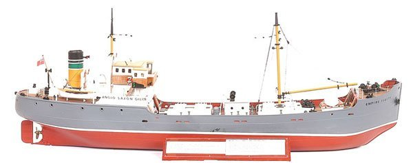 4019: Handbuilt scale model of a German Tanker