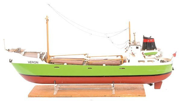 "4022: Handbuilt Model of Coastal Cargo Ship ""SS Veron"""