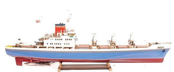 "4023: Handbuilt Model of the US Cargo Ship ""SS Deeiy"""