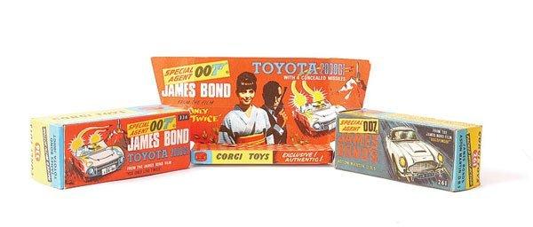 "3001: A Pair of Corgi ""James Bond"" Empty Boxes"