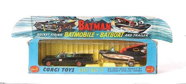 "3054: Corgi No.GS3 ""Batman"" 2-piece 1st issue Gift Set"