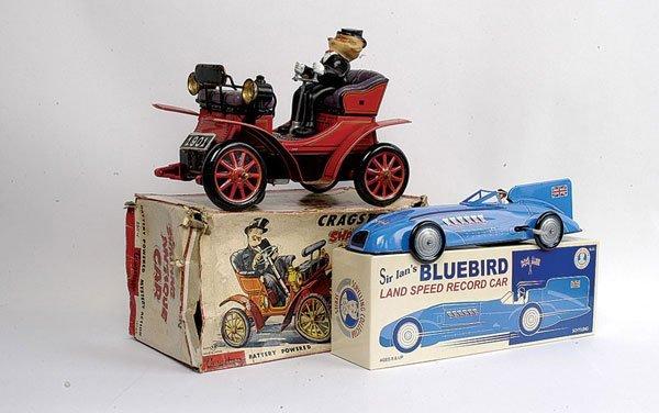 3402: Schylling Tinplate Clockwork Bluebird Racing Car