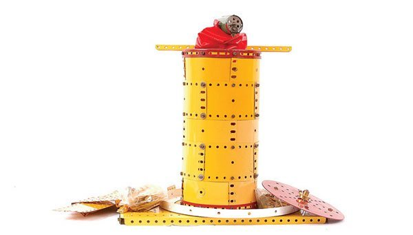 1007: Meccano - A Large Quantity of Yellow Components