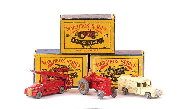 3006: Matchbox No.4a Massey Harris Tractor & Others