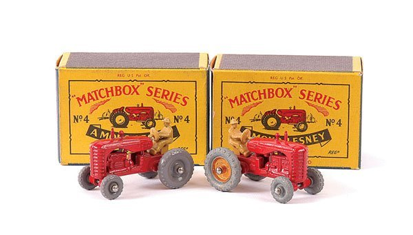 3012: Matchbox - 2 x No.4b Massey Harris Tractor