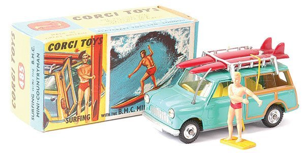 "4005: Corgi No.485 BMC Mini Countryman ""Surfing"""